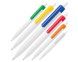 Ballpen with colored clip