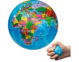 Squeeze ball in globe shape