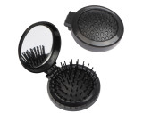 Foldable hair brush with mirror