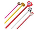 Crayon avec différentes gommes