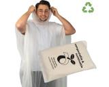 Poncho de pluie en PLA dans un sac de transport - compostable